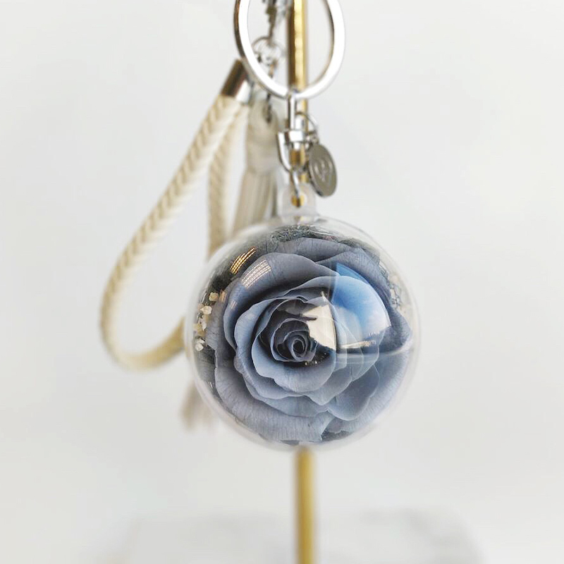 Space grey preserved rose encased in acrylic ball