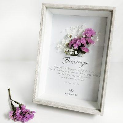 Blessing Preserved Flower Frame