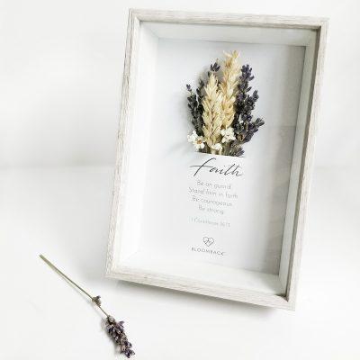 Faith Preserved Flower Frame