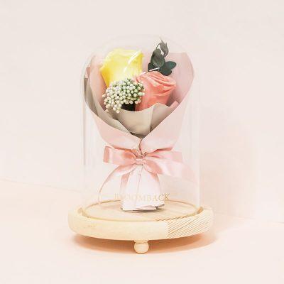 Faithfully Peach (bouquet Dome) No Led