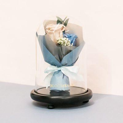 Faithfully Smokey Blue (bouquet Dome) No Led