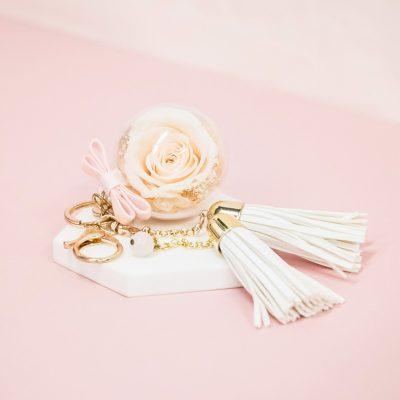 Champagne Rose Quartz Charm