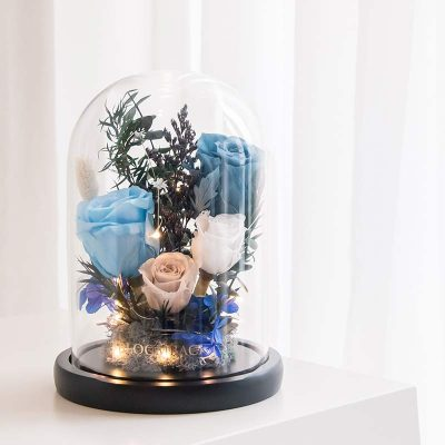 Deeper Than Any Ocean | Preserved Flowers Glass Dome