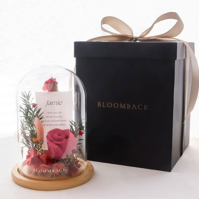 More Than Words Preserved Flowers Glass Dome